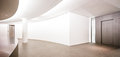 Empty gallery indoors nice background Royalty Free Stock Image