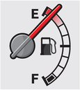 Empty gas tank vector illustration of the Royalty Free Stock Image