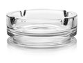 Empty glass ash tray on a white background Royalty Free Stock Photo