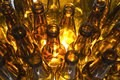 Empty glass beer bottles Royalty Free Stock Photo