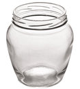 Empty glass can. Royalty Free Stock Photo