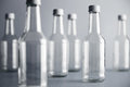 Empty glass cocoktail bottle with white cap mockup set Royalty Free Stock Photo
