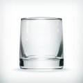 Empty glass computer illustration on white background Stock Photos
