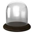 Empty glass dome