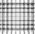 Empty glass grid big rack on white background Royalty Free Stock Photo
