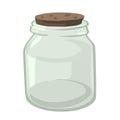 Empty Glass Jar Isolated Illus...