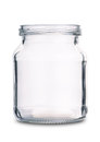 Empty glass jar Royalty Free Stock Photo