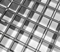 Empty glass rack big storage on white background Stock Images