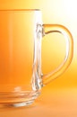 Empty glass transparent with handle Stock Images
