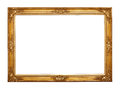 Empty golden frame Royalty Free Stock Photo