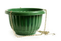 Empty green flower pot Royalty Free Stock Photography