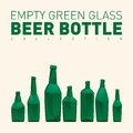 Empty green glass beer bottles Royalty Free Stock Photo