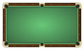 Empty green pool table