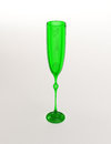 Empty green wineglass on white background Stock Image