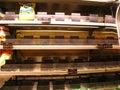 Empty grocery store during hurricane Irene Royalty Free Stock Photo