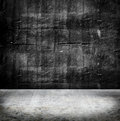 Empty Grunge concrete wall and cement floor,texture background Royalty Free Stock Photo
