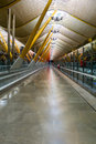 Empty hall in madrid barajas airport an Royalty Free Stock Photos