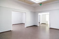 Empty halls art gallery can be used as concept for bankruptcy or stolen artwork Royalty Free Stock Images