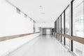 Empty hallway in the hospital Royalty Free Stock Photo