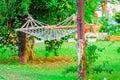Empty hammock in the garden of villa Stock Photography