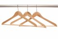 Empty hangers are on white background wooden Royalty Free Stock Photo