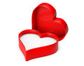 Empty heart valentine box on a white background Royalty Free Stock Photos