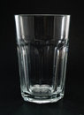 Empty highball glass isolated on black background Stock Photos
