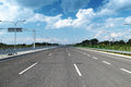 Empty highway and barriers in warsaw poland Royalty Free Stock Photography