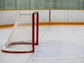 Empty hockey net Stock Image