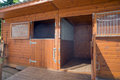 Empty horse stable on the farm Royalty Free Stock Photo