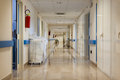Empty Hospital corridor Royalty Free Stock Photo
