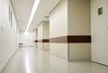 Empty hospital corridor Royalty Free Stock Photo