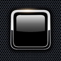 Empty icon with chrome metal frame Royalty Free Stock Photo