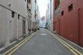 Empty Inner City Street