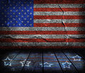 Empty interior room with american flag colors ready for product montage Royalty Free Stock Photos