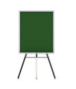 Empty isolated school or office tripod board Royalty Free Stock Photography