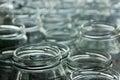 empty jars of homemade preserves Royalty Free Stock Photo