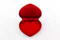 Empty jewel box red heart shaped gift Stock Photo