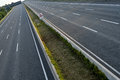 Empty lane highway complete closed Royalty Free Stock Image
