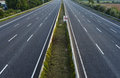 Empty lane highway complete closed due to roadworks Royalty Free Stock Photos