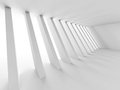 Empty Light White Interior. Abstract Architecture Background Royalty Free Stock Photo