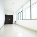 Empty long corridor Royalty Free Stock Photo