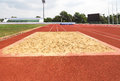 Empty long jump sand pit Royalty Free Stock Photo