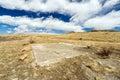 Empty Lot in Barren Field Royalty Free Stock Image