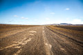 Empty lowland  in middle iceland Royalty Free Stock Photo