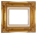Empty luxury golden wooden frame Royalty Free Stock Photo