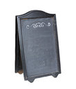 Empty menu board stand with clipping path Stock Image