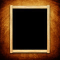 Empty menu board with wooden frame on grunge background Royalty Free Stock Image
