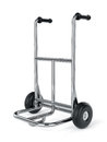 Empty metal hand truck isolated on white background Stock Photo