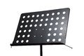 Empty metal music stand Stock Photo